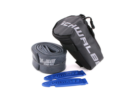 SCHWALBE saddlebag with 26 SV13 40 mm tube and 2 tirelevers