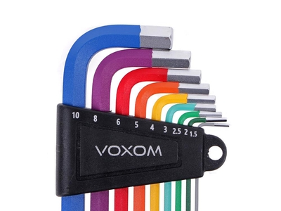 VOXOM WKL5 inside hexagon L-wrench set of 9 pieces | colored