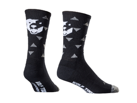 WOLFTOOTH Socken Sock Guy Traingle Wooligan Socks schwarz...