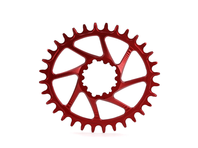 GARBARUK Kettenblatt Melon Direct Mount oval | 1-fach narrow-wide SRAM GXP Boost Kurbel 26 Zähne rot