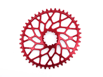 ABSOLUTE BLACK Chainring Direct Mount CX oval | 1-speed narrow wide for SRAM Crank | red