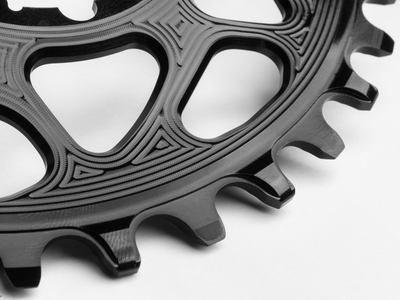 ABSOLUTE BLACK Chainring Direct Mount oval | E*thirteen Crank | black