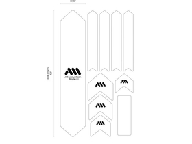 ALL MOUNTAIN STYLE Rahmenschutz Frame Guard XL | schwarz