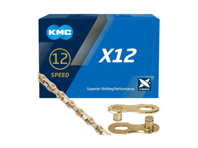 KMC Chain 12-speed X12 TI-N 126 Links | gold