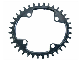 GARBARUK Chainring Melon oval 1-fach narrow-wide BCD 104 mm
