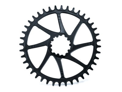 GARBARUK Kettenblatt Round Direct Mount | 1-fach narrow-wide SRAM GXP Road/CX 42 Zähne schwarz