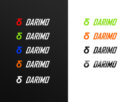 DARIMO CARBON Decal for Seatpost | 2 pcs. red / white