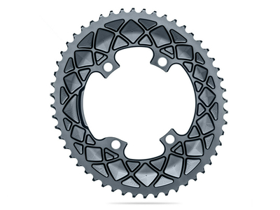 ABSOLUTE BLACK Chainring Road oval 2X BCD 110 4 Hole...