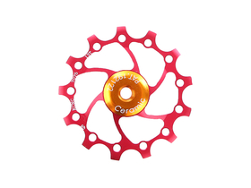 KCNC Jockey Wheel Ceramic | Long Teeth | 13 Teeth red