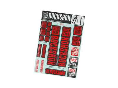 ROCKSHOX Sticker Decal Set für 35 mm Federgabel | farbig magenta