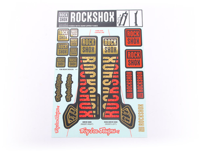 ROCKSHOX Sticker Decal Set für 35 mm Federgabel  | Troy...