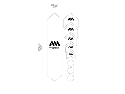 ALL MOUNTAIN STYLE Rahmenschutz frame guard BASIC | white/wolf