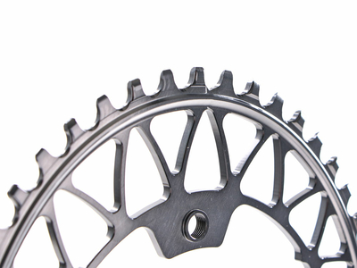 ABSOLUTE BLACK Chainring Oval Gravel | narrow wide 1-speed BCD 110/4 asymmetric | Dura Ace R9100 | Ultegra R8000 | grey
