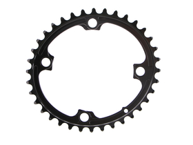 ABSOLUTE BLACK Chainring Premium Oval Road 2X BCD 110 4...