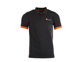 R2-BIKE Logo Poloshirt | dark heather grey