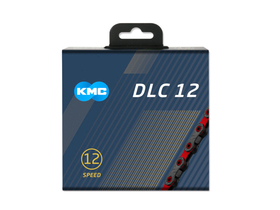 KMC Chain 12-speed DLC12 126 Links | black | red