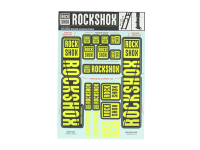 ROCK SHOX Sticker Decal Set für Boxxer | Domain...