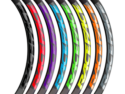 RaceFace Decal Kit for Arc 27 Rims Green Bicycle Wheelset Stickers