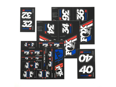 FOX Sticker 2019 Decal Set AM Heritage for Fork and Shock...