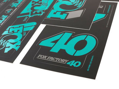 FOX Sticker 2019 Decal Set AM Heritage for Fork and Shock | turquoise