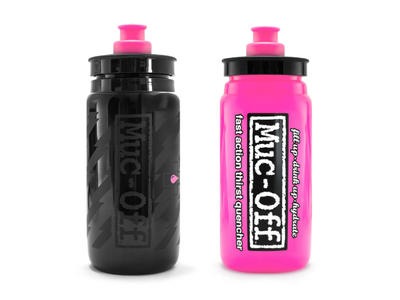 MUC-OFF X Elite Fly Water Bottle 550 ml pink