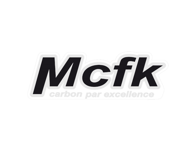 MCFK Decal for Seatpost white (Standard)