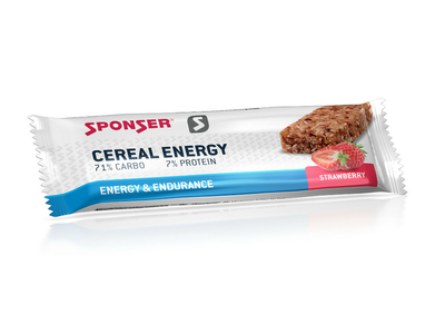 SPONSER Energybar Cereal Energy Bar Strawberry | 20 Bar Box