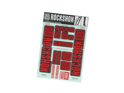 ROCKSHOX Sticker Decal Set für Boxxer | Domain Tauchrohre...