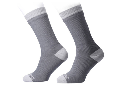 SEALSKINZ Socken Mid Length Warm Weather | Wasserdicht | grau L (43 - 46)