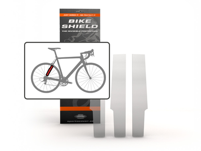 BIKESHIELD protection foil 3 piece Stayshield  dull