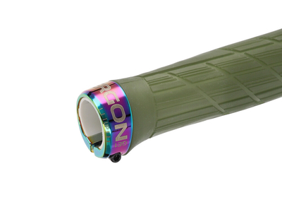 Moss//Oil Slick Lock-On Ergon GD1 Evo Factory Frozen Grips