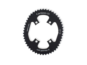 CARBON-TI Chainring X-RoadCam Oval 4-Arms BCD 110...