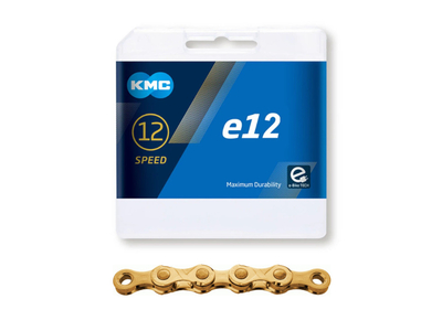 KMC Chain 12-speed e12 Ti-N 130 Links for E-Bike | gold