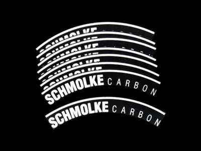 SCHMOLKE Sticker Set for Rims | Black reflective