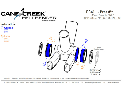 CANE CREEK Innenlager Hellbender 70 PF41 | 30 mm Welle