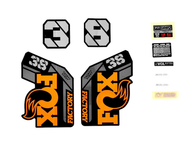FOX Sticker 2021 Decal Set for 38 F-S Factory Series...