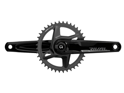 SRAM Rival 1 DUB Wide AXS Quarq Powermeter Kurbel Road 1-fach 46 Zähne 172,5 mm