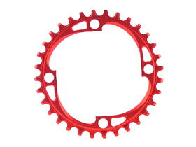 ABSOLUTE BLACK Chainring 1-speed BCD 104 narrow wide red