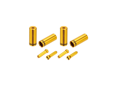 JAGWIRE Endkappen Kit Universal Pro 4 / 5 mm | gold