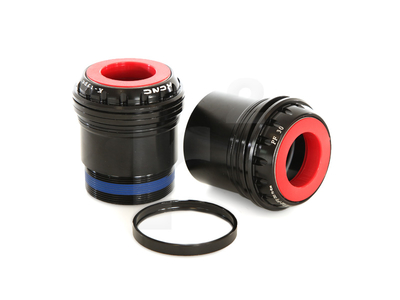 KCNC Innenlager PF30 Adapter auf Hollowtech 2 | 24 mm Welle rot