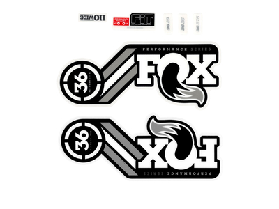 FOX Sticker Decal Set für 36 Performance Series Federgabel grau