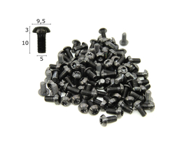 Titanium Screw M5x10 with Lens Head Torx black