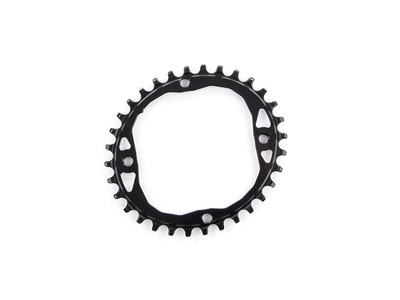 ABSOLUTE BLACK Chainring oval 1-speed LK 104 | narrow...