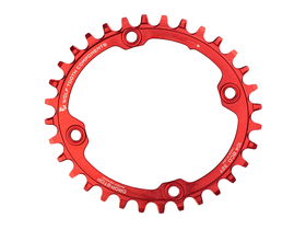 WOLFTOOTH Chainring Oval 1-speed BCD 104 | red