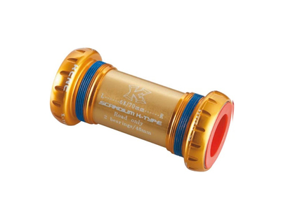 KCNC Innenlager BSA Road für Hollowtech 2 | 24 mm Welle rot
